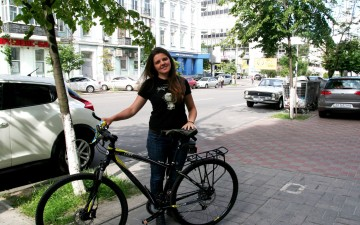 The number of people cycling on weekdays increases by 10% in Kyiv