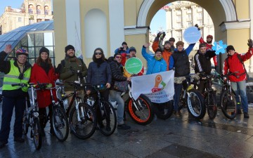 5 Ukrainian cities have organized Winter Bike-to-Work Day