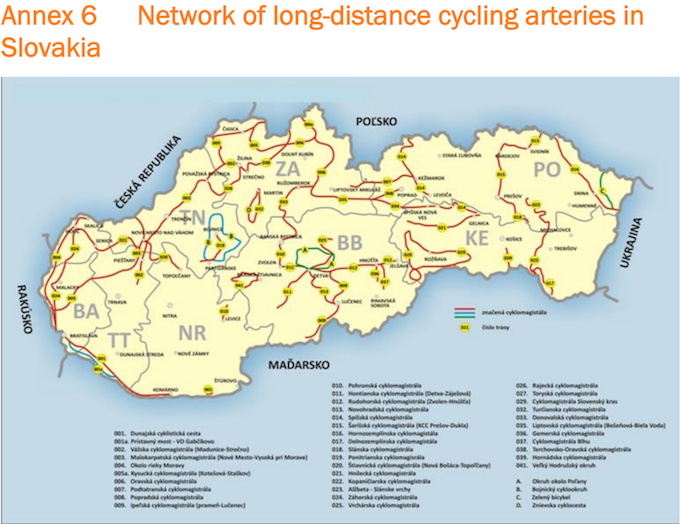Slovakia cycling routes