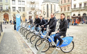 The first municipal bicycle rent was opened in Ukraine